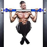 Premium Pull Up Bar Doorway Chin up Bar Without Screwless Installation Adjustable Width Wall Bar Locking Mechanism Gym Exercise Fitness (36''-47'')
