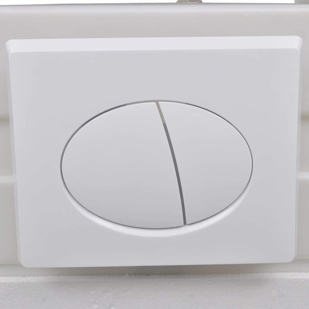 Festnight Toilette Murale WC Toilette Suspendue au Mur avec R/éservoir Cach/é C/éramique Noir