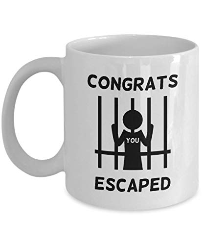 Farewell gift for coworker, Goodbye gift - Congrats you escaped, Going away gift for coworker, Boss leaving gifts, Work colleague - MG1164 (11oz)