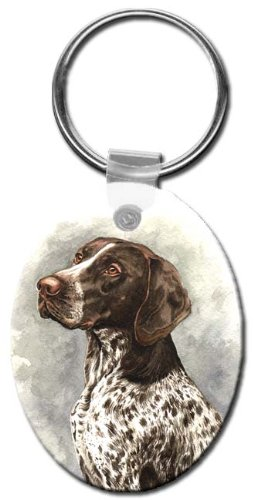 Canine Designs German Shorthair Pointer Oval Key Chain