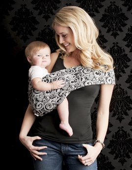 dfee874632f Amazon.com   Seven Everyday Slings Baby Carrier Sling Color Black White  Indy Size 4 Medium   Baby