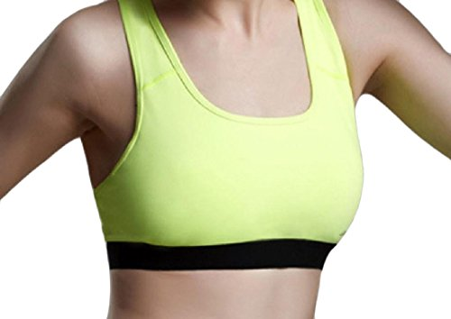 Supernova Underwire - Coolred Women Breathable Push-up Underwire Spell Color Sports Bra Yellow S