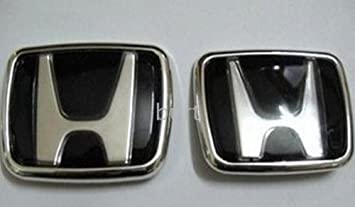Black Honda Badge Emblem Front Rear