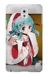 S1210 Hatsune Miku Vocaloid Yuki Snow Miku Case Cover For Samsung Galaxy Note 3