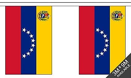 The Flag B040219 - Banderines banderines con Escudo de la Bandera de Venezuela (24 x