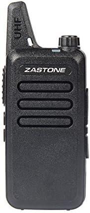 Zastone X6 Rechargeable Long Range Two-Way Radios with Earpiece 2 Pack 3W 16-Channel UHF Walkie Talkies