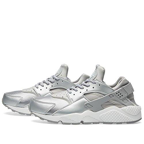 Nike Wmns Air Huarache Run Se 859429-002 Argento Metallizzato / Argento Opaco (12)