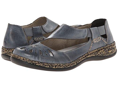 Rieker Women's 46315 Daisy 15 Whitedenim 42 M EU (Rieker Shoes)