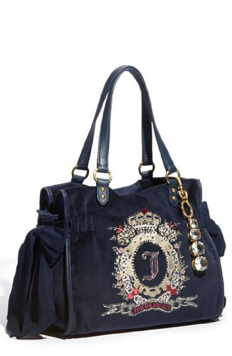 Juicy Couture Cameo Large Red Daydreamer Handbag-Dark Navy, Bags Central