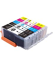Myink Compatible Canon 680xl 681xl Ink Cartridges, PGI-680 XL Cli-681 XL Ink Replacement for Canon PIXMA TR7560 TR8560 TS6160 TS8160 TS9160(5-Pack)