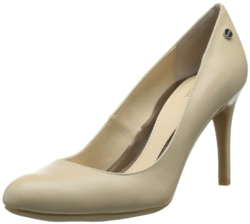 Calvin Klein Womens Lana Kidskin Dress Pump Natural