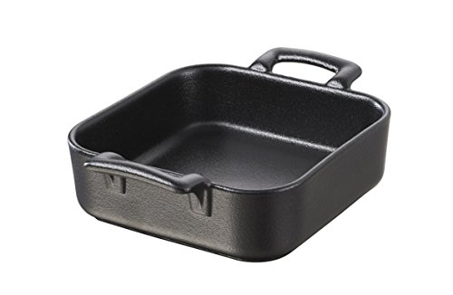 Revol USA Belle Cuisine Deep Square Baking Dish, 7.75 by 7.76-Inch, Black