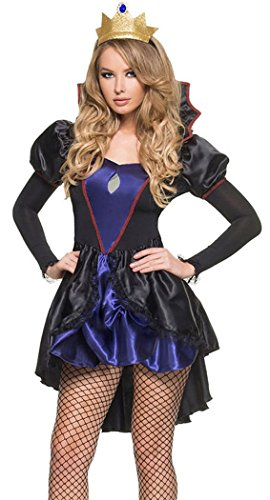 Bubble Wrap Costume Uk (BYY Womens Black Royal Evil Queen Costume One Size)