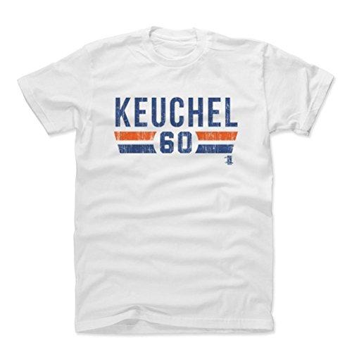 500 LEVEL Dallas Keuchel Cotton Shirt X-Large White - Houston Baseball Fan Apparel - Dallas Keuchel Font B