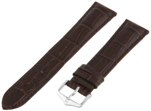 Hirsch 010280-10-21 21 -mm  Genuine Leather Alligator Embossed Watch - Watch Alligator Genuine Strap Brown