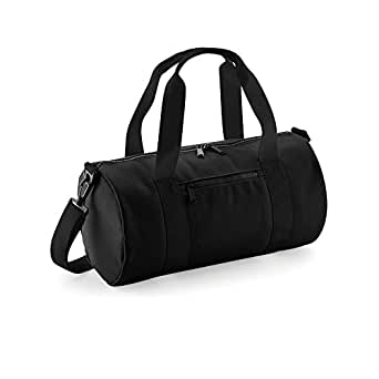 Bagbase Mini Barrel Shoulder Bag (Pack of 2) (UK Size: One Size) (Black/Black)