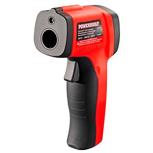 Powerbuilt 648564 Temperature Gun Infrared Noncontact Laser Thermometer by Powerbuilt