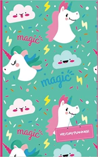 kid day planner unicorn design cover weekly pocket planner journal