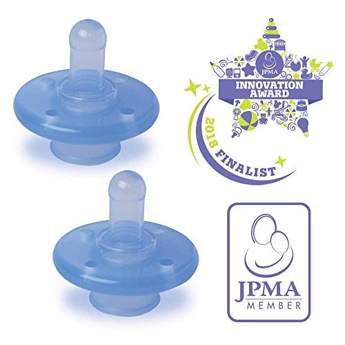 (MyPaci - Classic Plus | Baby Pacifier | All Ages | Silicone | BPA Free | Finger Safe | Baby | 0-36mth 2 Pack)