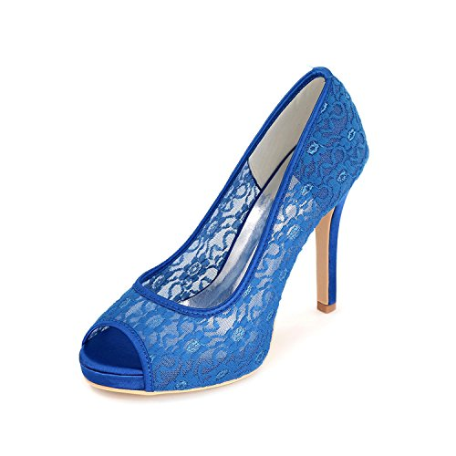 Party L Peep Custom Color Blue Evening Sandals YC Women Multi With High Toe Wedding F Heels Shoes Fine wawzx7