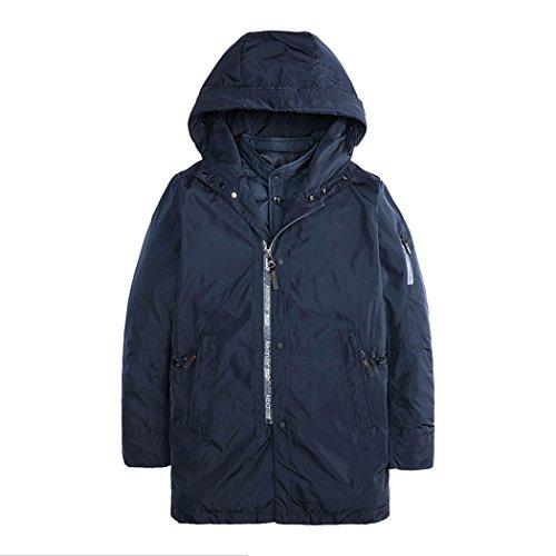 Di Giacca Nero Tasca Moda Cappello Cotone Uomo Di M Hhy Mens inverno dXAqnS6R