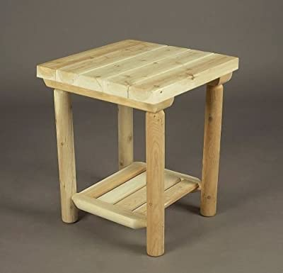Rustic Natural Cedar Furniture 110035A Night Table without Drawer, Natural