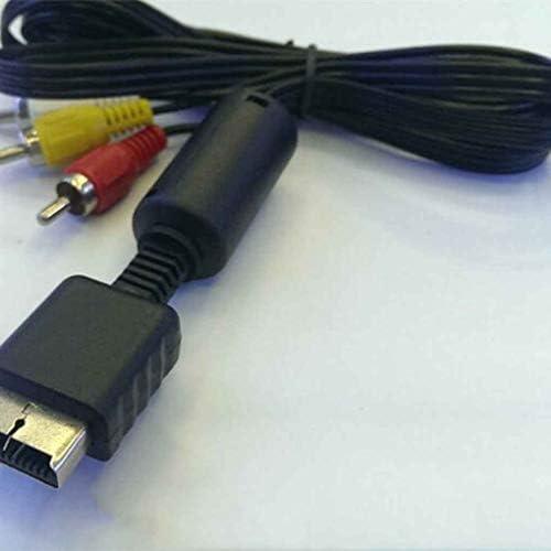 Fangfeen 1.8m PVC AV vid/éo de Remplacement C/âble Audio pour Playstation//PS 1//2//3 Jeu TV Cordon