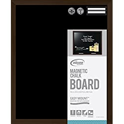 Board Dudes Magnetic Chalk Board Wood Style Frame