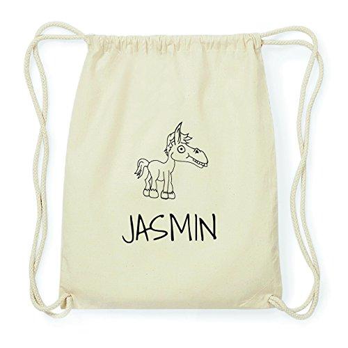 JOllipets JASMIN Hipster Turnbeutel Tasche Rucksack aus Baumwolle Design: Pferd