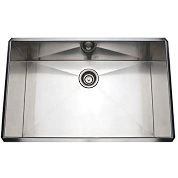 Rohl RSS3018SB 30-Inch Kitchen Sink with Tangent Edge, Brushed ...