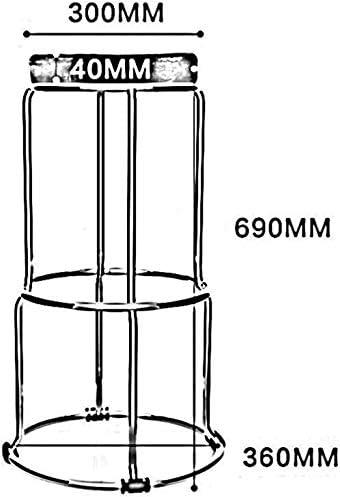 des tabourets, Soft PU Cuir épais empilable Tabouret Pliant Table Tabouret (Pack-2) 116 924 (Size : 6)
