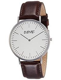 August Steiner Men's AS8084XBR Analog Display Japanese Quartz Brown Watch