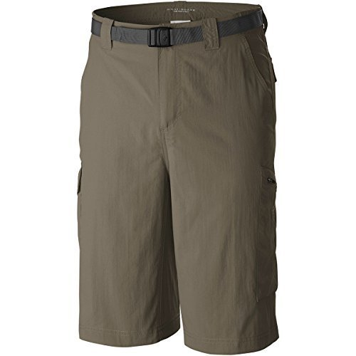 Adjustable Waist Cargo Shorts - Columbia Men's Silver Ridge Cargo Short, Sage, 36 x 12