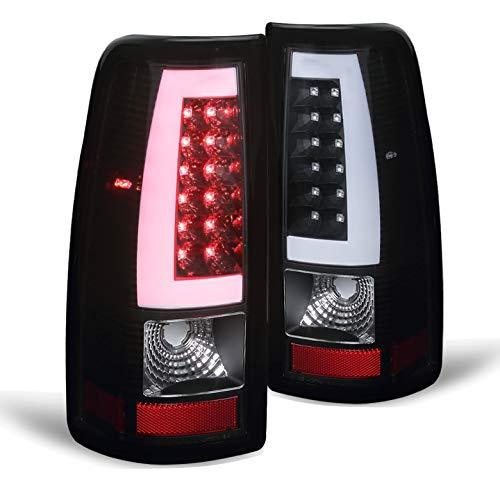 Xtune 2003-2006 Silverado/Sierra Black Housing Optic-Light-Bar LED Tail Lights Pair L+R 2004 2005