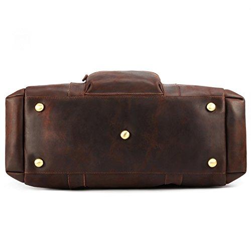 Kattee Retro Leather Duffel Bag Large Overnight Travel Bag by Kattee (Image #4)