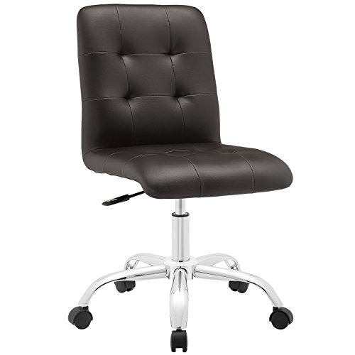 Modway Prim Mid Back Office Chair, Brown ()