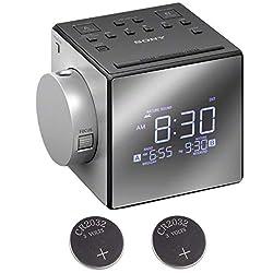 Sony ICFC1PJ Alarm Clock Radio w/ 2 Back-up 2032 Lithium Batteries
