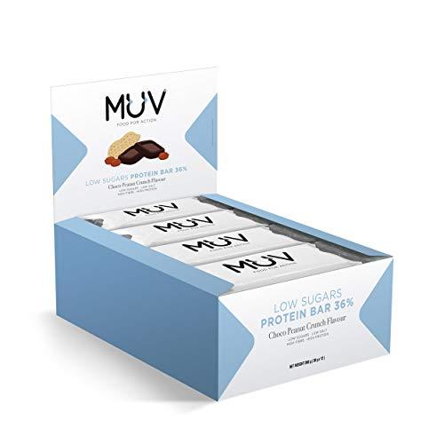 Muv Food For Action - zuckerreduzierte Proteinriegel Geschmacksrichtung Choco Peanut Crunch 12 x 30 g