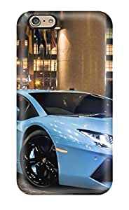 New Style Tpu 6 Protective Case Cover/ Iphone Case - Lamborghini Aventador Blue