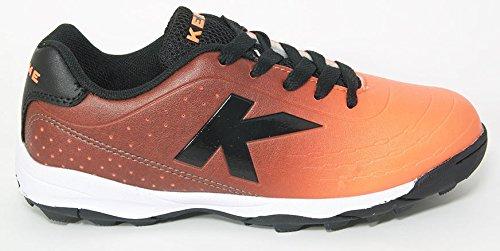 Zapatilla de fútbol sala Kelme Jr K-Electric Goal Turf Naranja-Gris Naranja