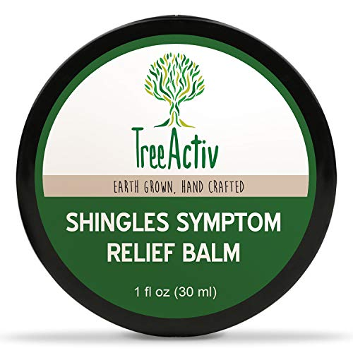 TreeActiv Shingles Symptom Relief Balm | Clay Poultice Mask to Quickly Reduce Pain, Itch, Rashes, Blisters & Irritation | Aloe, Tea Tree Oil, Baking Soda, Witch Hazel, Lemon Essential Oil (1 fl oz)