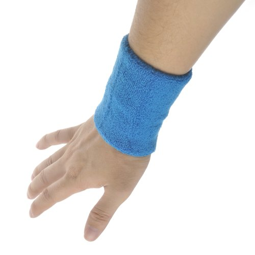 GOGO Thick Solid Color Pro Wrist Sweatband, price for one piece