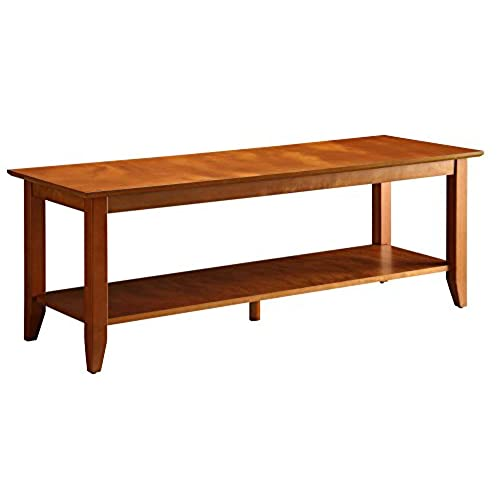 Convenience Concepts American Heritage Coffee Table With Shelf, Cherry