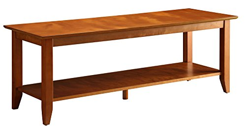 Convenience Concepts American Heritage Coffee Table with Shelf, Cherry (Coffee Leather With Shelf Table Ottoman)