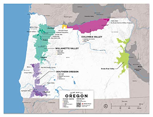 (Wine Folly USA: Oregon Wine Map Poster Print, 12
