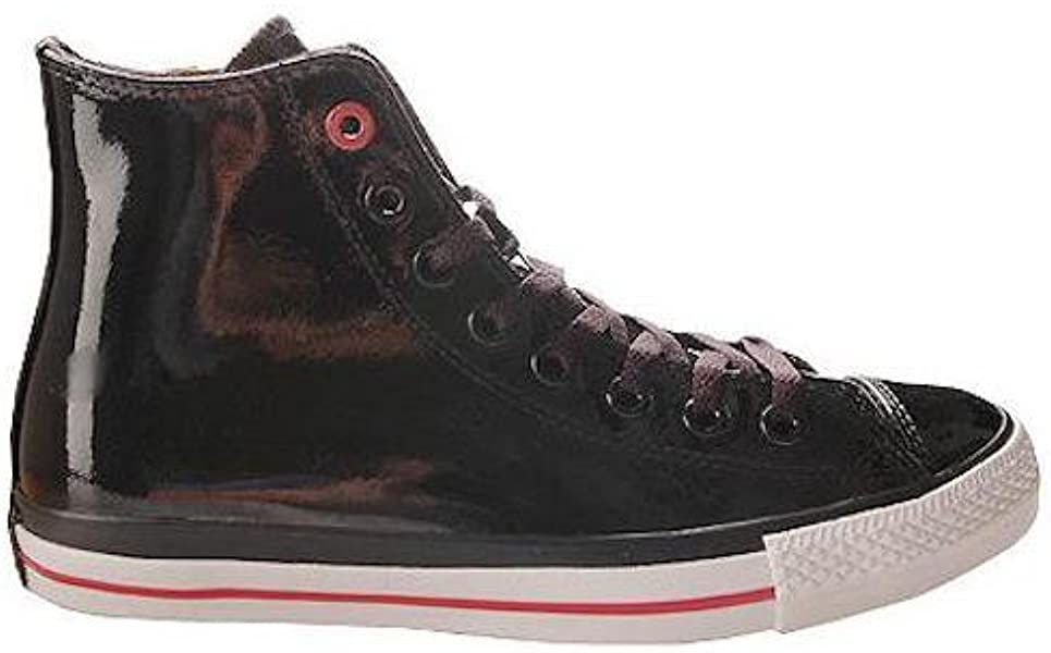 adace2c6584ff9 Converse Chuck Taylor All Star RED Black Patent Leather Red Stripe and Sole  Hollywood Hi 103673