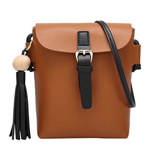 HeySun Lightweight Bag Brown Women Medium Satchel Cross Simple Body Small for FrxOZqF