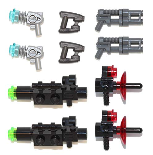 LEGO Space Sci-Fi Weapons Pack (Heavy, Double and Quad Blasters, Scanner Radars, Ray Guns) -