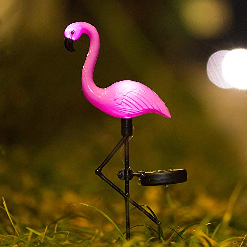 Elnsivo Flamingo Lawn Lamp Garden Decor Solar Lights Solar Yard Pink Flamingo Lights Outdoor Decorative Stake - Solar Pink Flamingo Yard Ornaments(Solar Flamingo) (Fun Solar Lights Outdoor)