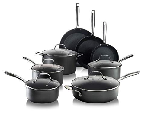 Granitestone Pro Pots and Pans Set 13 Piece Hard Anodized Premium Chef's Cookware with Ultra Nonstick Diamond & Mineral…